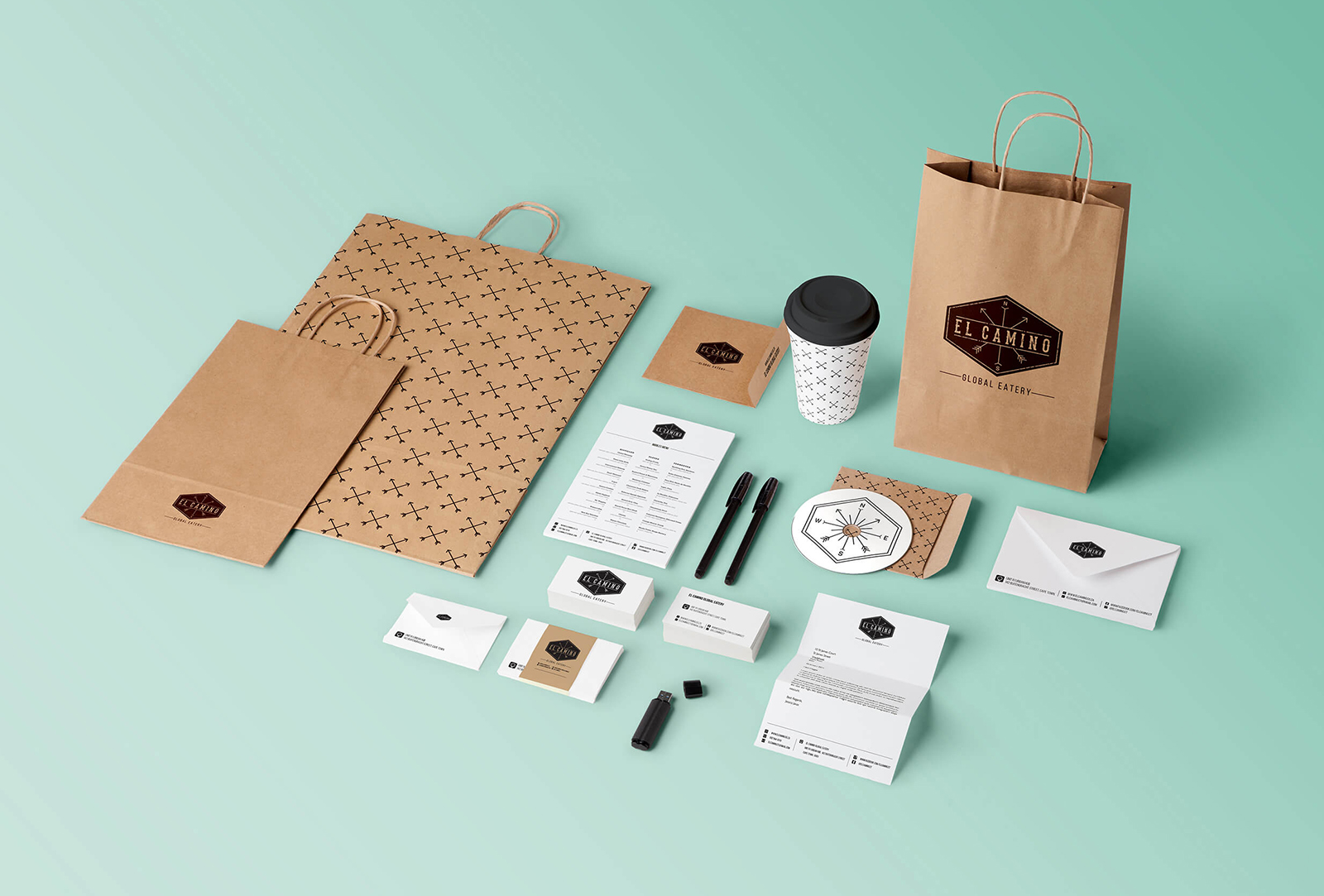 El Camino - Stationery & Packaging